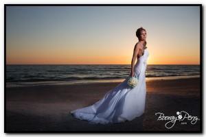 sunset beach house wedding