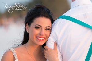 Natural light beach wedding photography