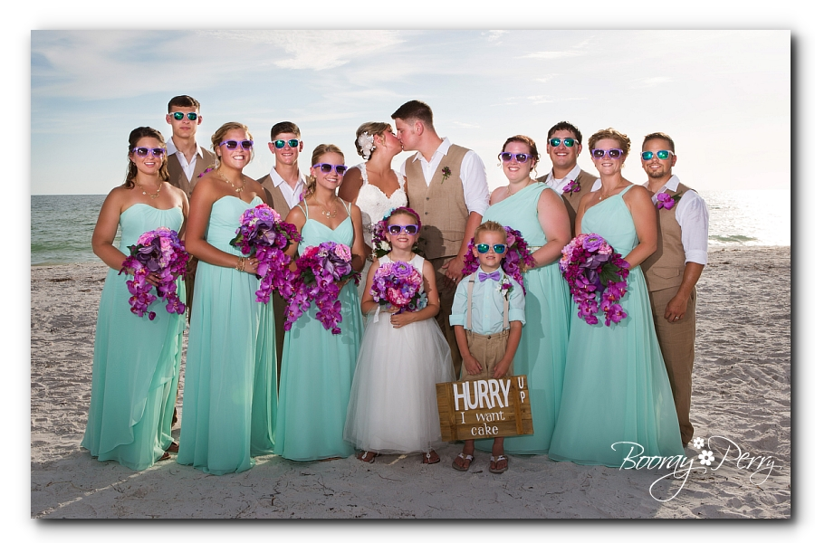 Group wedding picture from florida beach