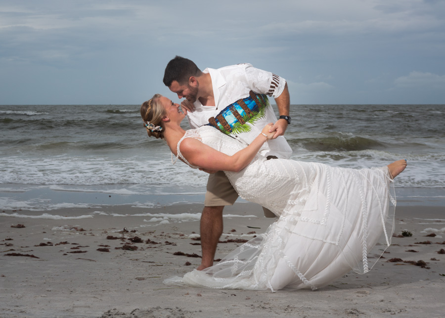 beach wedding dip clearwater